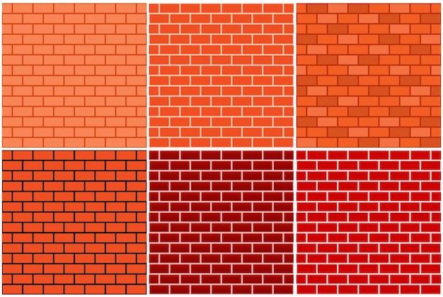 Nahtloses muster der backsteinmauer