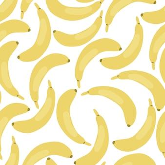 Nahtloses muster der banane lokalisiert auf weißem hintergrund
