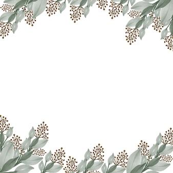 Nahtloses muster der blassgrünen wildpflanze für textildesign