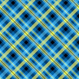 Nahtloses muster der blauen farbe des schottenstoffs