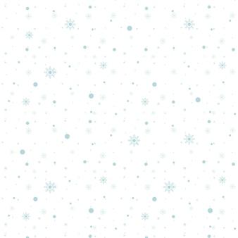 Nahtloses muster der blauen schneeflocken