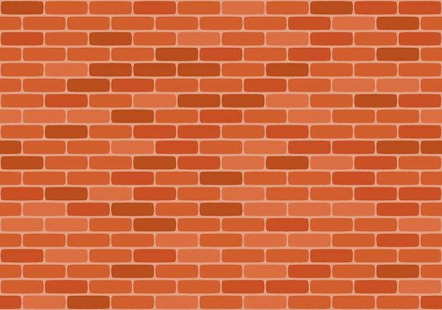 Nahtloses muster der braunen backsteinmauer,