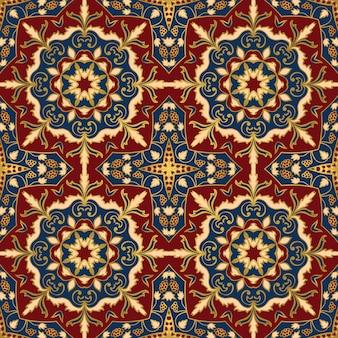 Nahtloses muster der bunten orientalischen verzierung von mandalas.