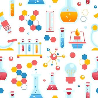 Nahtloses muster der chemie