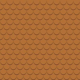 Nahtloses muster der dachziegel. gürtelrose profile hintergrund. vektor-illustration.