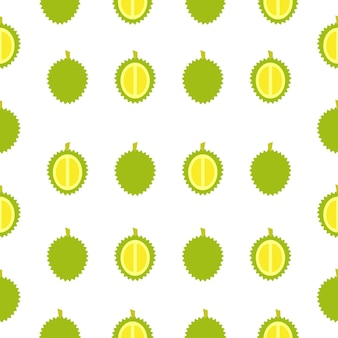 Nahtloses muster der durianfrucht