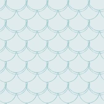 Nahtloses muster der fischschuppe. reptil, drachenhaut textur. blauer meerjungfrauenschwanz mit fischschuppen unter wasser.
