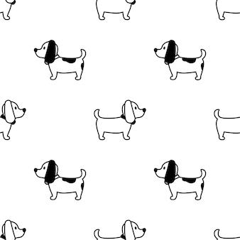 Nahtloses muster der französischen bulldogge
