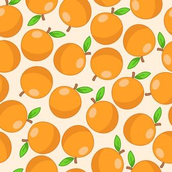 Nahtloses muster der frischen orangen.
