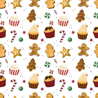Nahtloses muster der frohen weihnachten