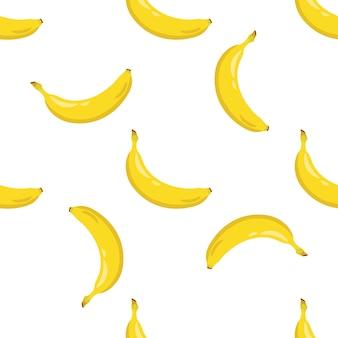 Nahtloses muster der gelben banane.