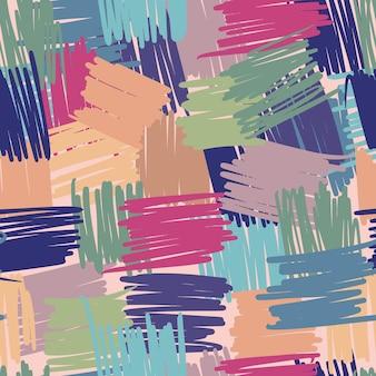 Nahtloses muster der geometrischen chaotischen linien. abstrakte freihändige bunte hintergründe für textilstoffe oder bucheinbände, tapeten, design, grafik, verpackung