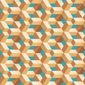 Nahtloses muster der geometrischen holzblockform