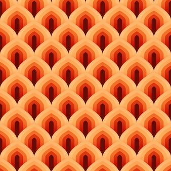 Nahtloses muster der geometrischen skala