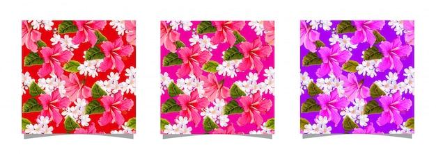 Nahtloses muster der hibiskusblume
