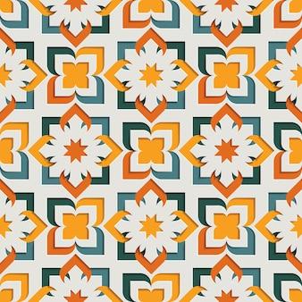 Nahtloses muster der islamischen orientalischen floralen abstrakten arabeske für ramadan kareem. hintergrund des ostmotivpapierstils