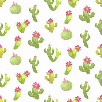 Nahtloses muster der kaktusvektorillustration