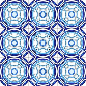 Nahtloses muster der keramikfliesen