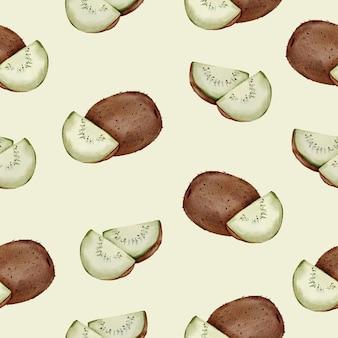Nahtloses muster der kiwi