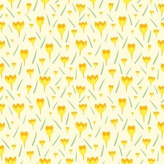 Nahtloses muster der kleinen gelegentlichen wiederholung der gelben blume