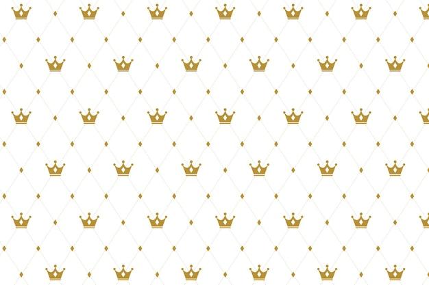 Nahtloses muster der krone auf weiß