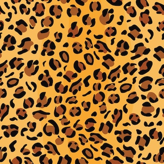 Nahtloses muster der leopardenhaut