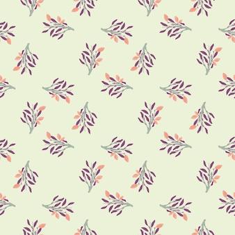 Nahtloses muster der limonade mit dem abstrakten lebensmitteldruck der lila blätter und der rosa zitronen