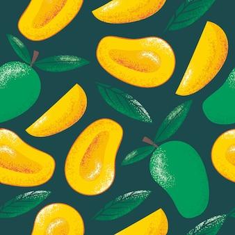 Nahtloses muster der mangos