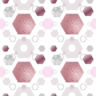 Nahtloses muster der marmorgoldrose