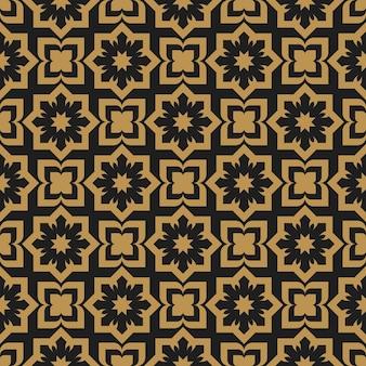 Nahtloses muster der muslimischen geometrischen dekorativen abstrakten arabeske Premium Vektoren