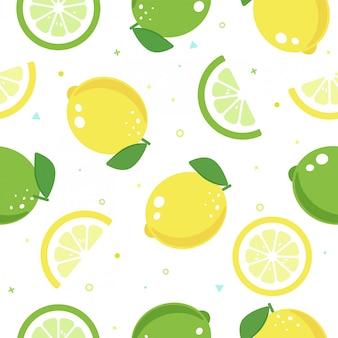 Nahtloses muster der nahtlosen zitronenfrucht