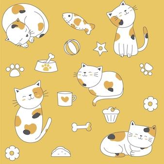 Nahtloses Muster der netten Babykatze