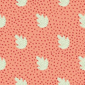 Nahtloses muster der netten geometrischen eiche punktet hintergrund. einfache naturtapete. für stoffdesign, textildruck, umhüllung, abdeckung. doodle-vektor-illustration.