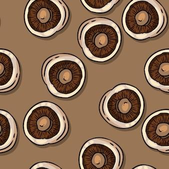 Nahtloses muster der netten herbstchampignons-pilze.
