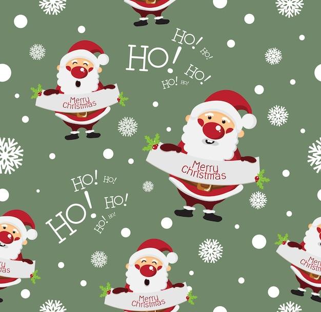 Nahtloses muster der netten weihnachtskarikatur
