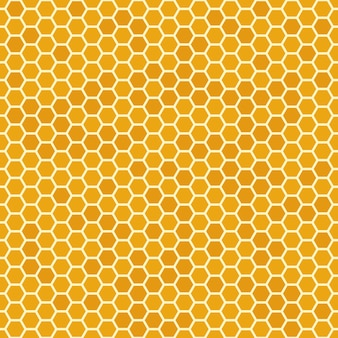 Nahtloses muster der orange bienenwabe