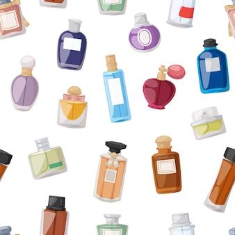 Nahtloses muster der parfümflasche