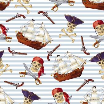 Nahtloses muster der piraten