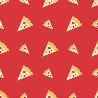 Nahtloses muster der pizza