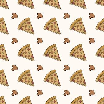 Nahtloses muster der pizzascheibe