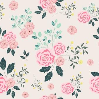 Nahtloses muster der rosarose