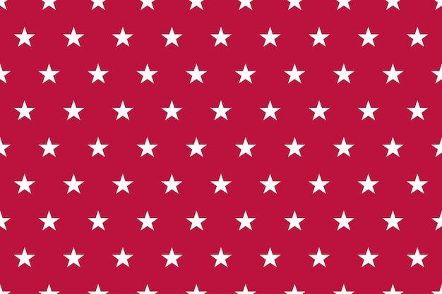 Nahtloses muster der roten patriotischen usa-flagge mit sternen