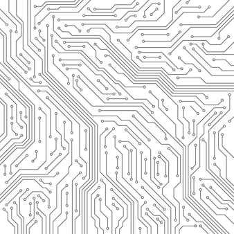 Nahtloses muster der schaltung. computer-motherboard, mikrochip-elektronik.