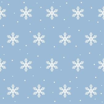 Nahtloses muster der schneeflocke von weihnachten und neujahr. schnee digitales papier