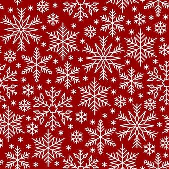 Nahtloses muster der schneeflocke, winterlinie schneehintergrund, papierverpackung ,.
