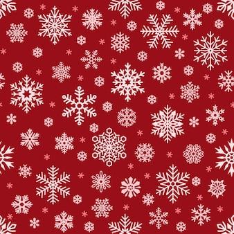 Nahtloses muster der schneeflocken. weihnachten fallende schneeflocke