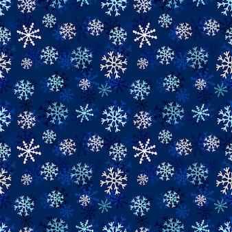 Nahtloses muster der schneeflocken