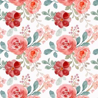 Nahtloses muster der schönen aquarellblumen