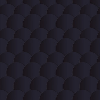 Nahtloses muster der schwarzen papierkreise