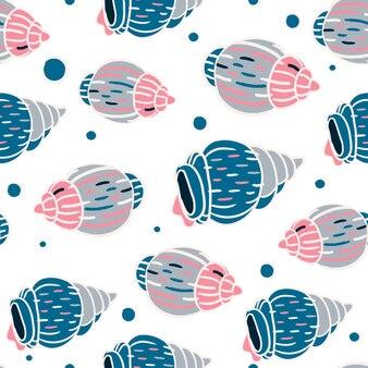 Nahtloses muster der seashells
